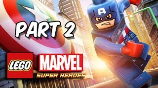 LEGO Marvel Super Heroes Gameplay Walkthrough - Part 2 Captain America & Mr. Fantastic