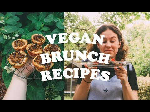 VEGAN BRUNCH RECIPES 🥞 mini quiches & cinnamon doughnut french toast