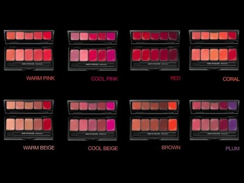 make up for ever rouge artist palette review swatches youtube