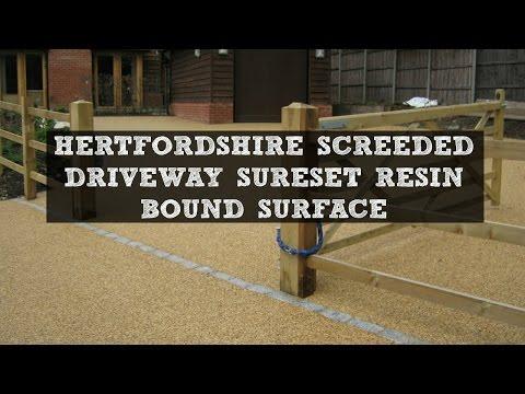 Hertfordshire Screeded Driveway SureSet Resin Bound Surface