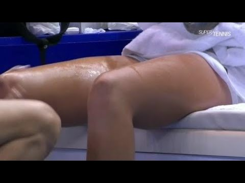 kristina mladenovic sexy injury timeout