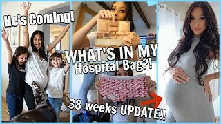 He's COMING!! Hubby had to leave!!! Pregnancy Update | What's in My Hospital Bag!!! Mini Haul