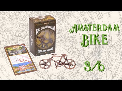 Metal Puzzle Amsterdam Bike - Metal Travellers Collection - Overview