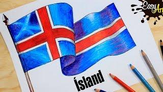 how to draw the flag of Iceland /hvernig á að teikna fána Íslands /PAR 2