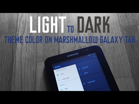 light to dark theme android 6 galaxy tab OMNI ROM | HOW TO - YouTube