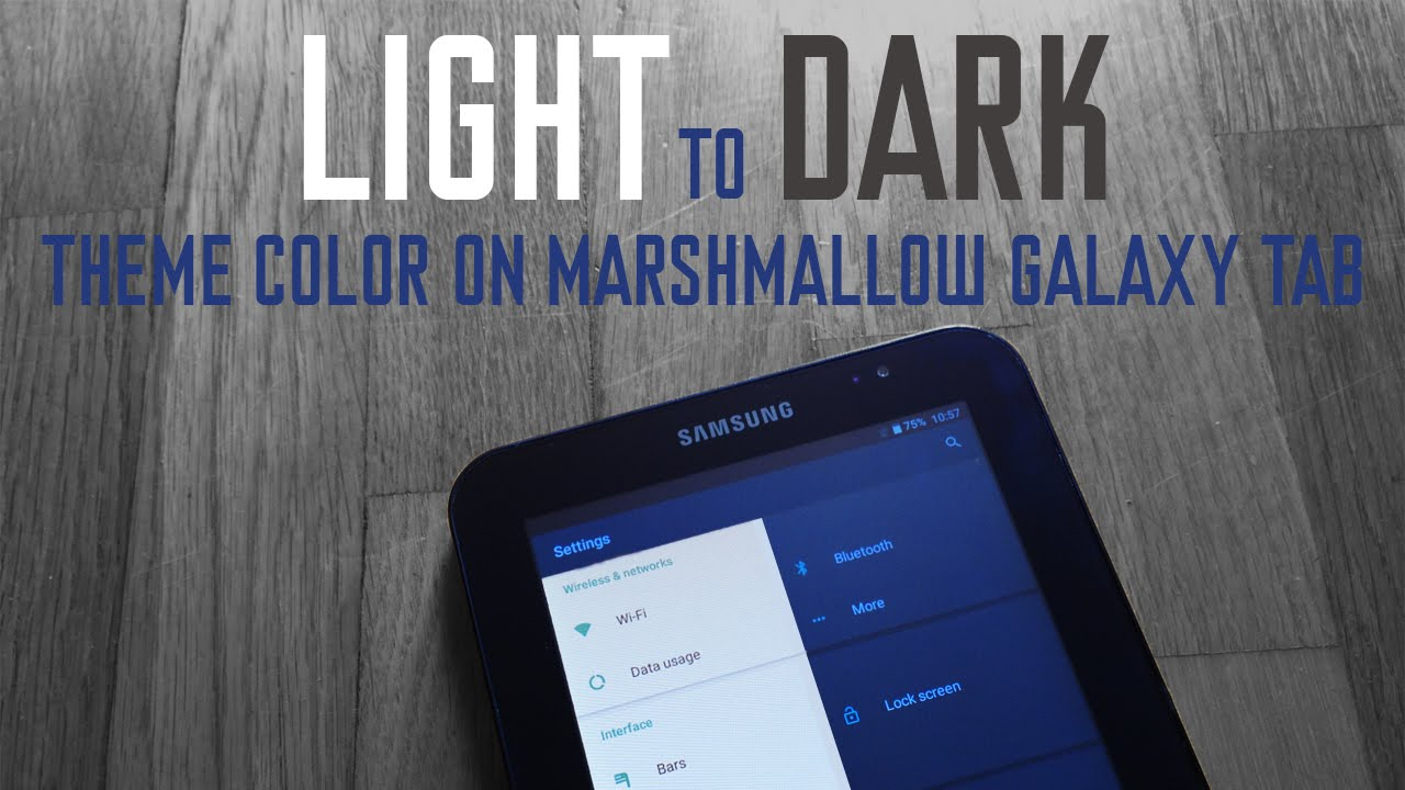 Light to dark theme android 6 galaxy tab omni rom how to youtube voltagebd Images