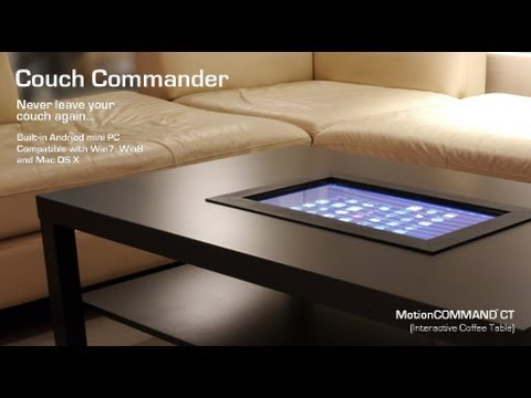 motioncommand ct (interactive coffee table) - youtube
