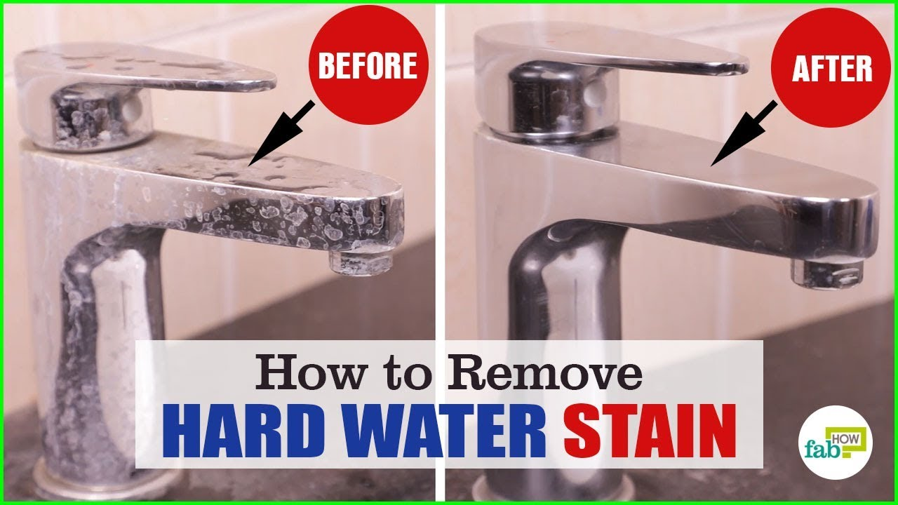 Fastest and the Cheapest Way to Remove Hard Water Stains - YouTube