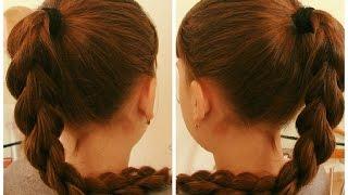 Коса 3D. Очень простой способ плетения. Видео-урок.