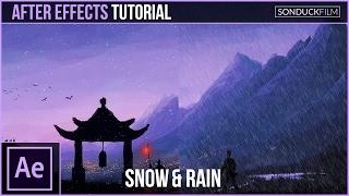 بعد الآثار التعليمي: إنشاء الثلوج والأمطار مع الجسيمات