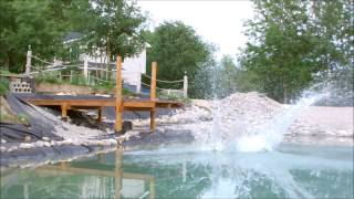 7. Building Your Own Private Beach - Natural Swimming Pond