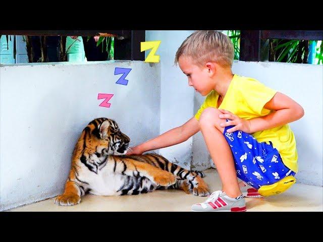 Vlad and Mama at sleeping tiger farm