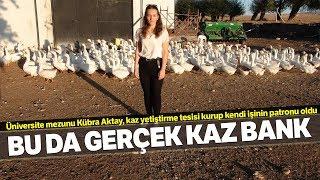 Üniversite Mezunu Genç Kız, Köyünde Açtığı Kaz Çiftliği İle Kendi İşinin Patronu Oldu