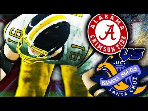 THIS ONE D-LINEMAN BEAT ALABAMA!!!   NCAA 14 Banana Slugs Dynasty Ep. 31