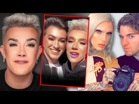 For real?! James Charles shades Shane Dawson & Jeffree Star by not giving them his palette?! thumbnail