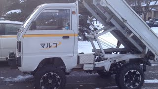 Suzuki Carry Japanese Mini Truck lifted with home made dump box