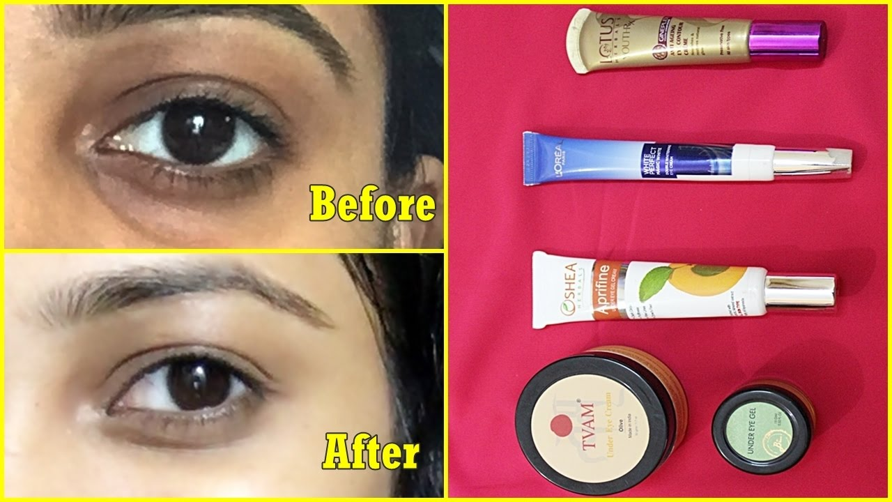 5 Best UNDER EYE CREAM in India for DARK CIRCLE | How to remove DARK CIRCLE  in 7 Days | BEST EYE GEL