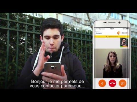 Le service client de Cyclocity accessible aux personnes sourdes et malentendantes avec Luca Gelberg