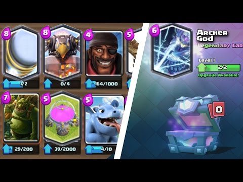 Thumbnail: Clash Royale - 18 NEW CARD UPDATE IDEAS | SPARKY V.2, ARCHER GOD & MORE Legendary, Epic, Rare Cards!
