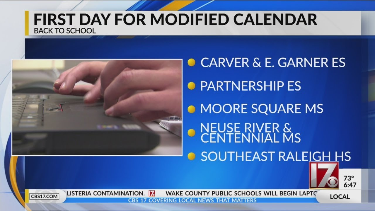 First day of school for 7 Wake County schools