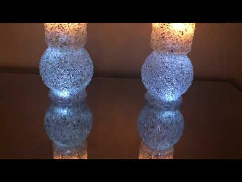 DIY CRUSHED GLASS CANDLE HOLDERS USING DOLLAR TREE ITEMS PLUS MYSTERY BOX GIVEAWAY