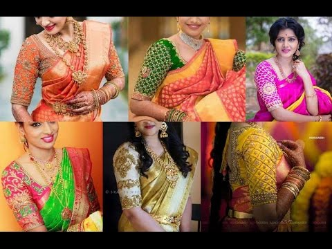 c59b71925eace9 Pattu Saree Blouse Designs - YouTube