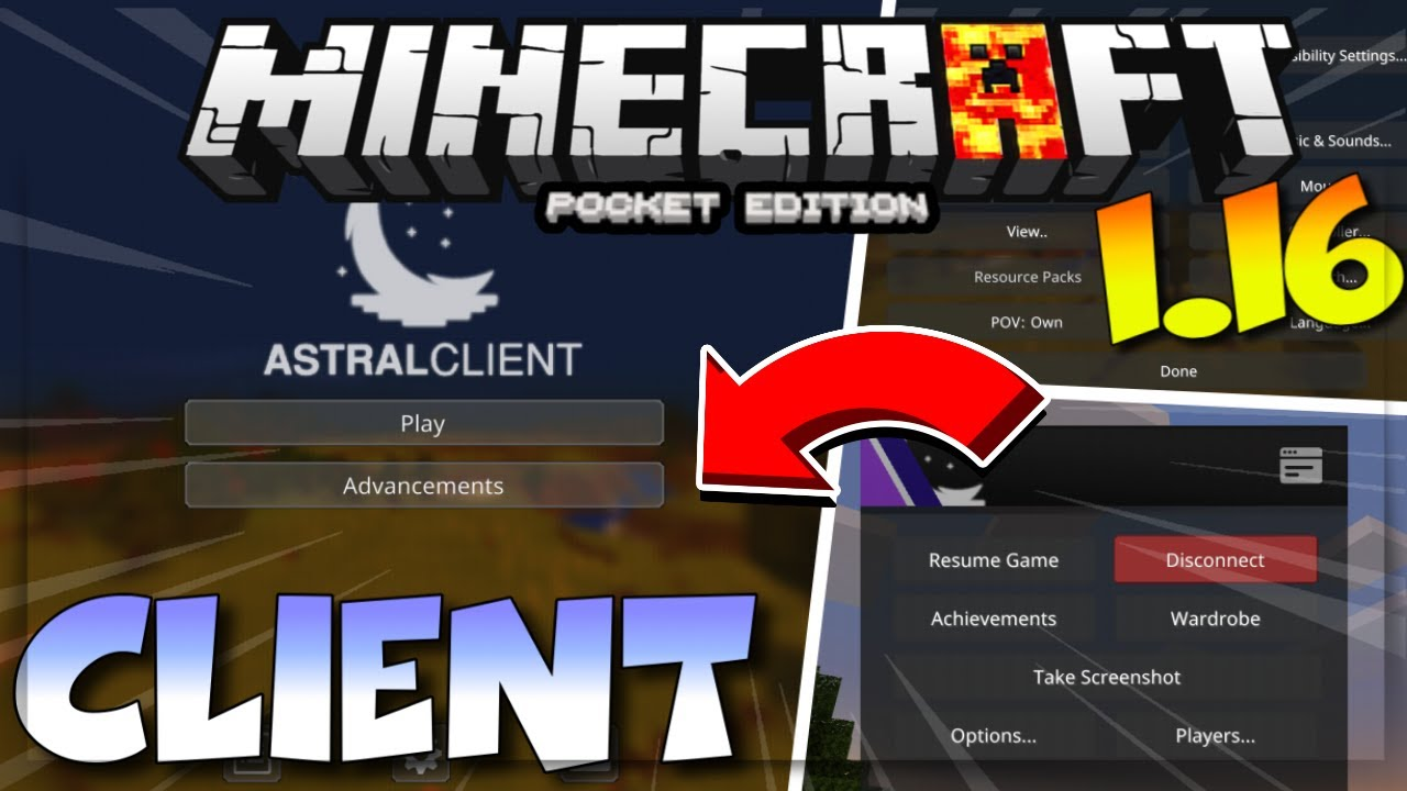 MCPE 1.16 ASTRAL CLIENT - MINECRAFT PE 1.16 ASTRAL CLIENT V5  - ASTRAL CLIENT - BOOST FPS