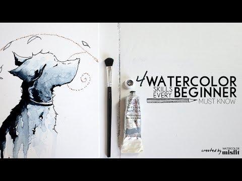 4 Essential Watercolor Skills Every Beginner Must Know