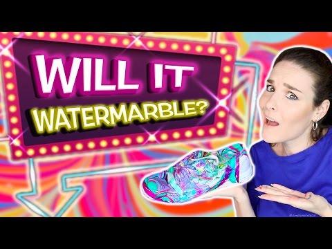 Will It Watermarble?! Watermarbling 10 random objects in nail polish!