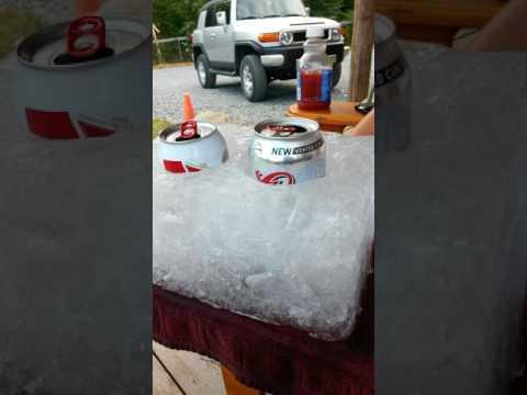 Homemade beer cooler