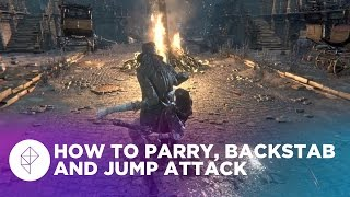 Bloodborne: How to parry, backstab and jump attack