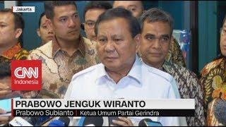Jenguk Wiranto, Prabowo: Kekerasan Bukan Budaya Kita