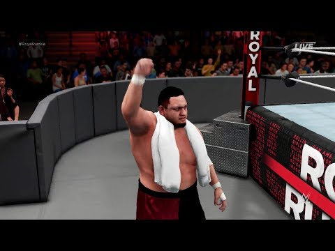 ROMAN REIGNS VS SAMOA JOE-ROYAL RUMBLE 2018-INTERCONTINENTAL CHAMPIONSHIP-WWE2K18 thumbnail