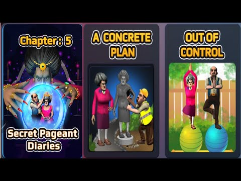 Scary Teacher 3D | New Chapter 5 | A CONCRETE PLAN & OUT OF CONTROL Gameplay Walkthrough Part 1 iOS