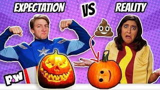 Halloween: Expectations vs Reality (trick or treat fails)
