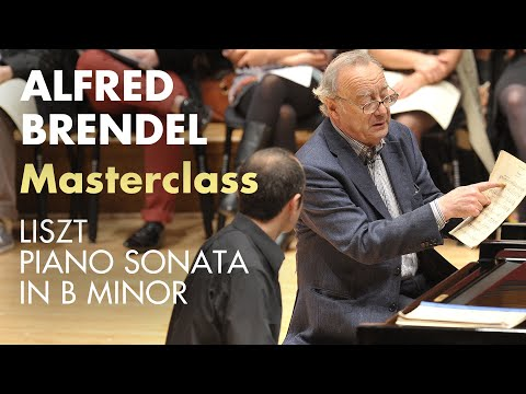 Piano masterclass on Liszt B minor sonata with Alfred Brendel at the Royal College of Music
