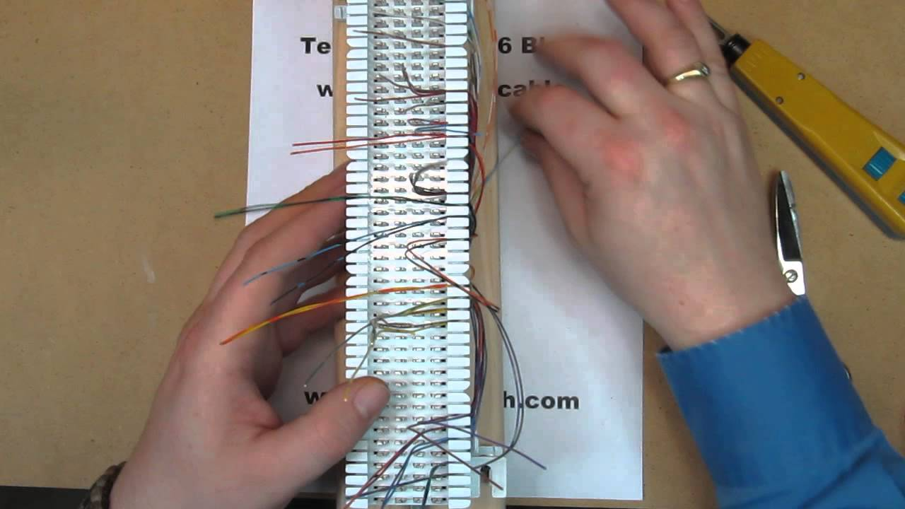 telephone patch panel wiring diagram translation vs transcription venn how to terminate a 66 block with 25 pair cable falcon technologies inc youtube