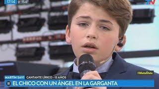 Más de Martín Savi, el cantante lírico de 13 años