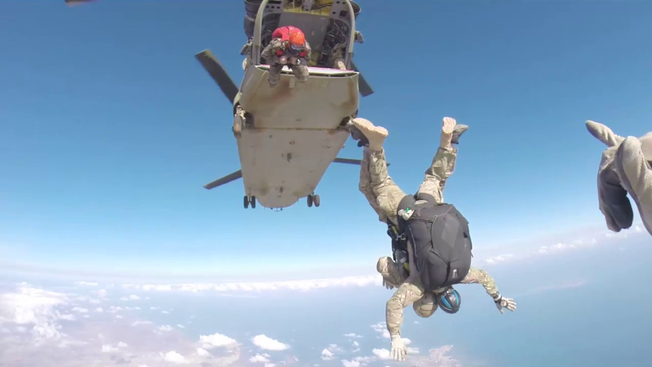 French and U.S. Forces • (HALO) High Altitude Low Open Jump