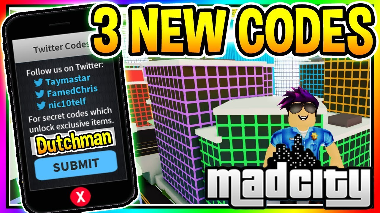 3 New Codes Mad City Roblox Youtube
