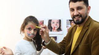 بابا يضحك على سوار وماسة |  Настя делает аквагрим для конкурса красоты