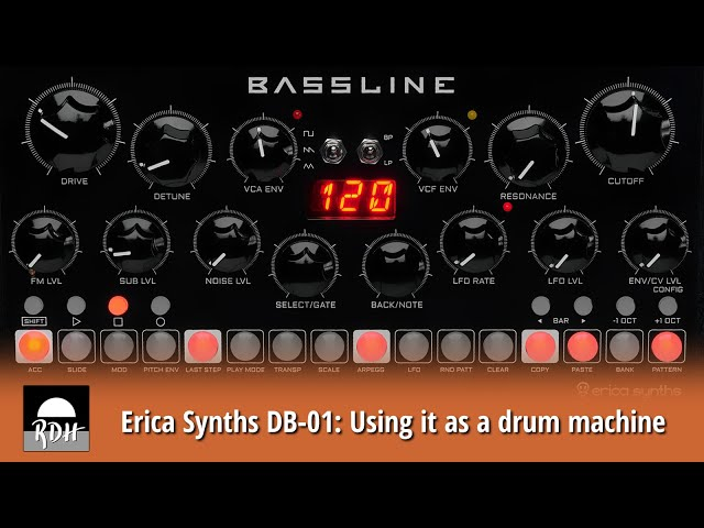 Erica Synths DB-01: Using it as a drum machine