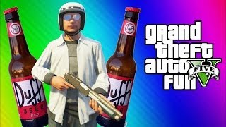 GTA 5 Online Funny Moments Gameplay - Chain Explosion, Wildcat Drunk, Car Glitch Fun (Multiplayer)