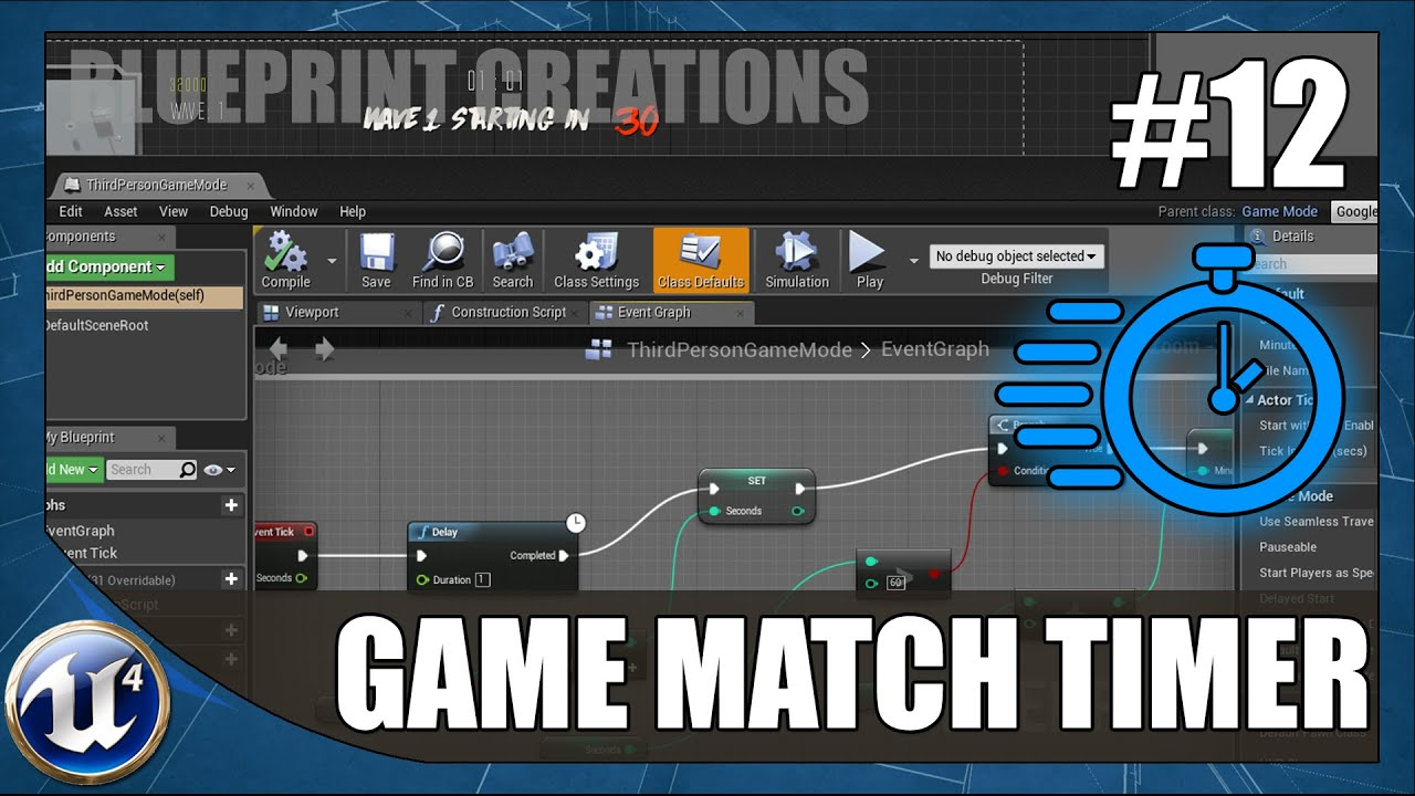 Creating a game match timer 12 unreal engine 4 blueprint creating a game match timer 12 unreal engine 4 blueprint creations tutorial malvernweather Image collections
