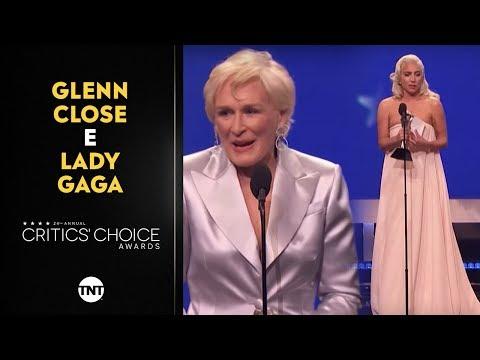 GLENN CLOSE E LADY GAGA EMPATAM NO CRITICS' CHOICE AWARDS | #CRITICSTNT Mp3