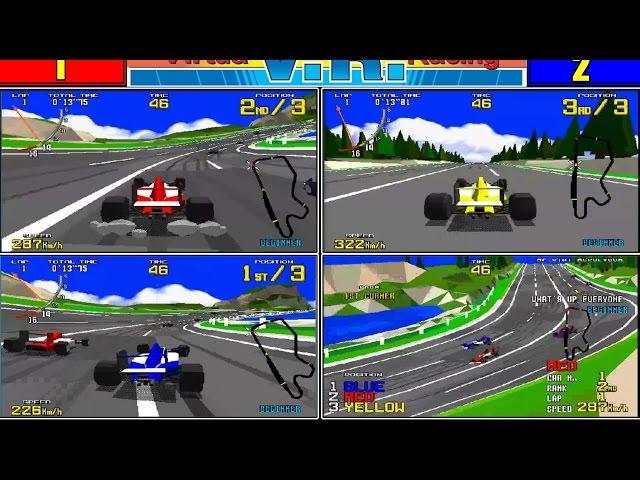 Virtua Racing - 3 Player game, MAME 170b