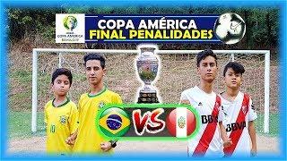 GRANDE FINAL! COPA AMÉRICA DE PENALIDADES BRASIL x PERU DESAFIOS DE FUTEBOL