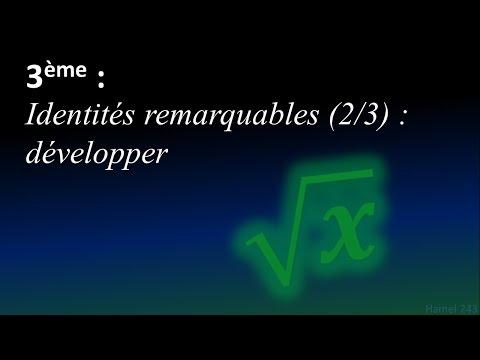 Identités remarquables (2/3) - Développer - 3ème - YouTube