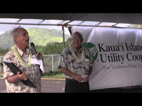 KIUC of Kaua'i Leading The Renewable Energy Charge, at Koloa Solar Dedication, 2014
