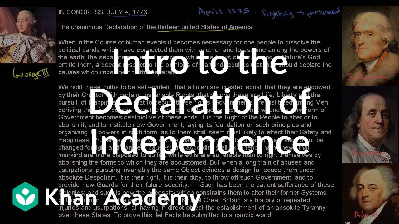 an introduction to the history of the declaration of independence in the united states Declaration of independence, in us history, document that was approved by the continental congress on july 4, 1776, and that announced the separation of 13 north american british colonies from great britain.